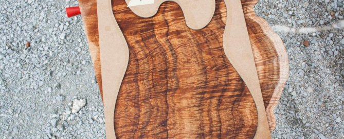 Rusti guitars - Curly Koa one piece