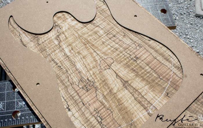 rusti guitars spalted flamed maple 1
