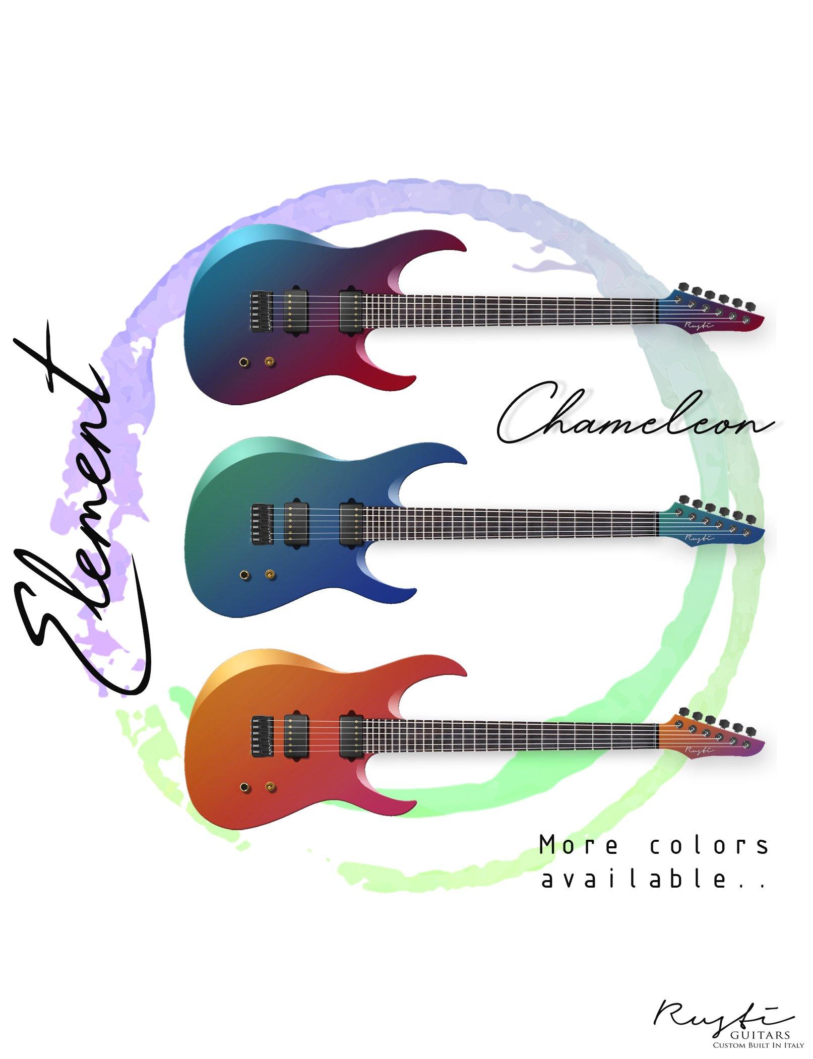 Element Chameleon rusti guitars rustiguitars custom guitars